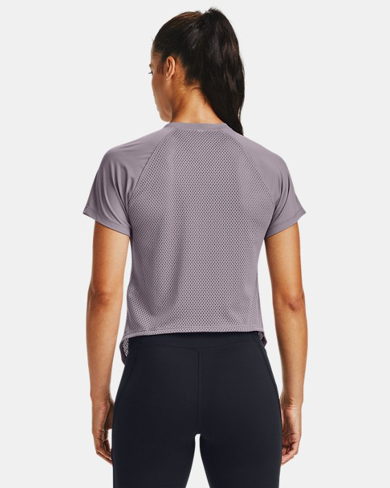 Women's UA Armour Sport Hi-Lo Short Sleeve, Purple, pdpMainDesktop image number 2