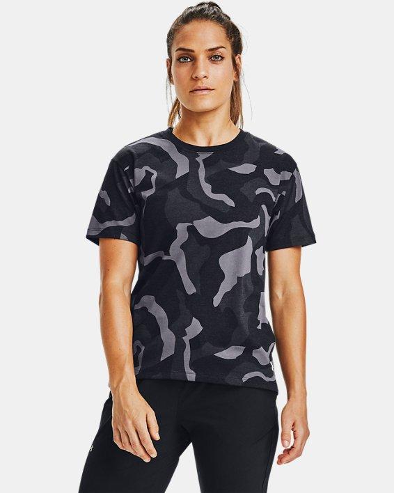 Women's UA Denali Print Short Sleeve, Black, pdpMainDesktop image number 0