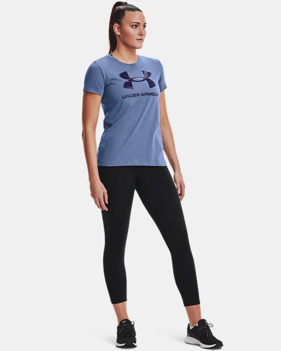 Women's UA Sportstyle Graphic Short Sleeve, Blue, pdpMainDesktop image number 2