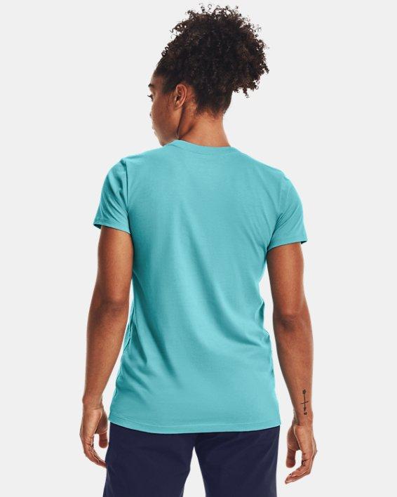 Women's UA Sportstyle Graphic Short Sleeve, Blue, pdpMainDesktop image number 1