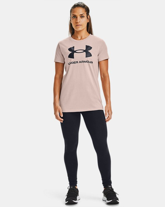 Women's UA Sportstyle Graphic Short Sleeve, Brown, pdpMainDesktop image number 1