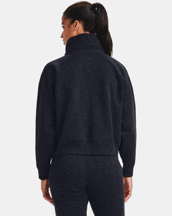 Women's UA Rival Fleece Wrap Neck, Black, pdpMainDesktop image number 2