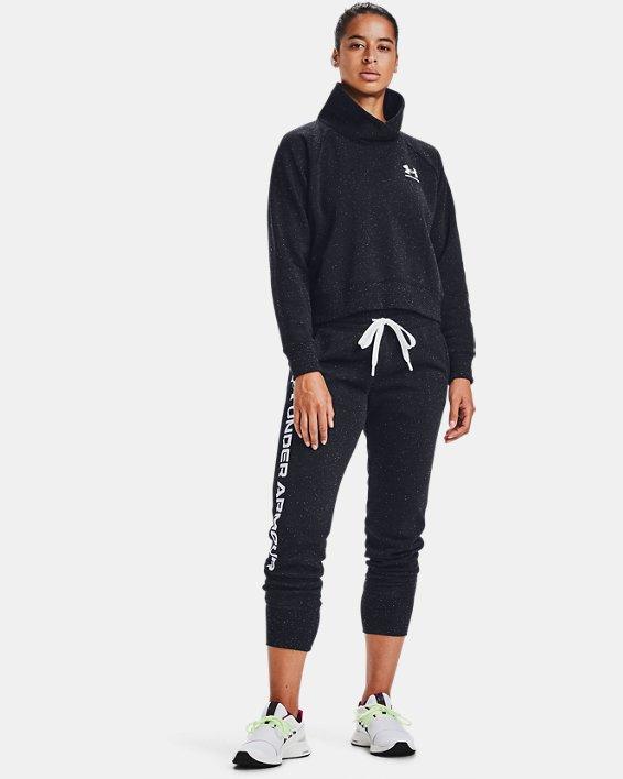 Women's UA Rival Fleece Wrap Neck, Black, pdpMainDesktop image number 1