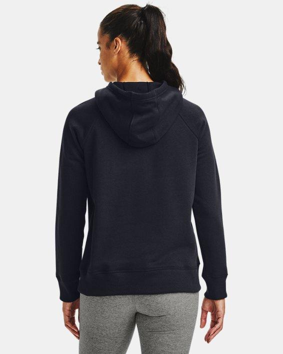 Women's UA Rival Fleece HB Hoodie, Black, pdpMainDesktop image number 1