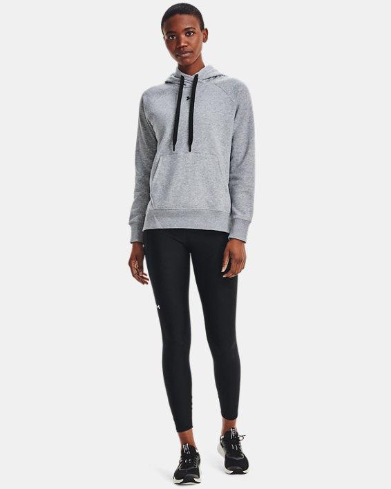 Sudadera con capucha de tejido Fleece UA Rival HB para mujer, Gray, pdpMainDesktop image number 3