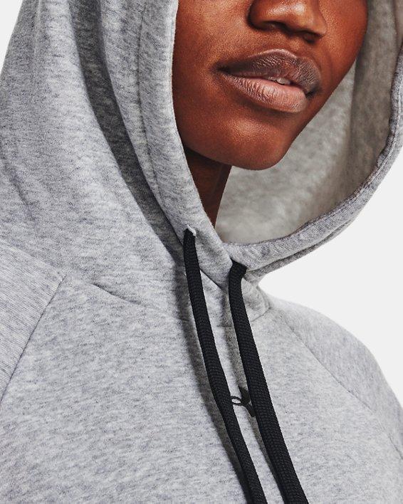 Sudadera con capucha de tejido Fleece UA Rival HB para mujer, Gray, pdpMainDesktop image number 4