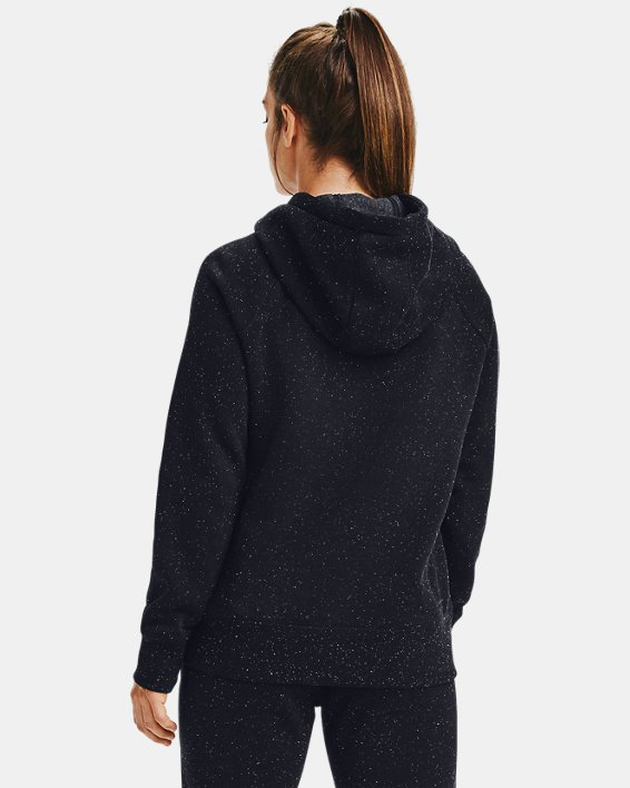 Women's UA Rival Fleece Logo Hoodie, Black, pdpMainDesktop image number 2