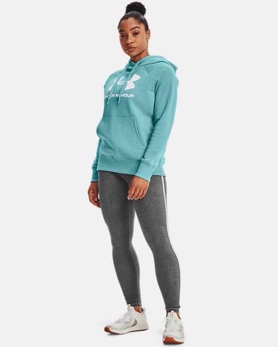 Women's UA Rival Fleece Logo Hoodie, Blue, pdpMainDesktop image number 0