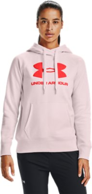 Under Armour señora fitness-kapuzensweatshirt ua rival Fleece logotipo Hoodie gris