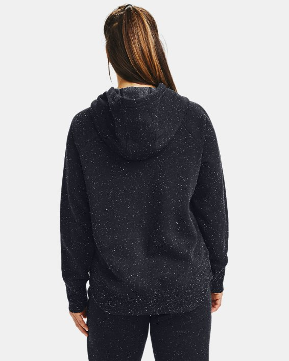 Sweat à capuche UA Rival Fleece Metallic pour femme, Black, pdpMainDesktop image number 2