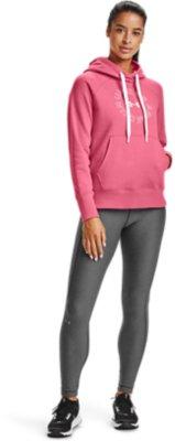 Under Armour Damen UA Rival Fleece Metallic Hoodie Sweatshirt blau