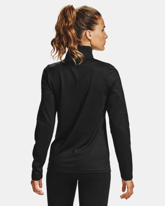 Women's ColdGear® Authentic ½ Zip, Black, pdpMainDesktop image number 2
