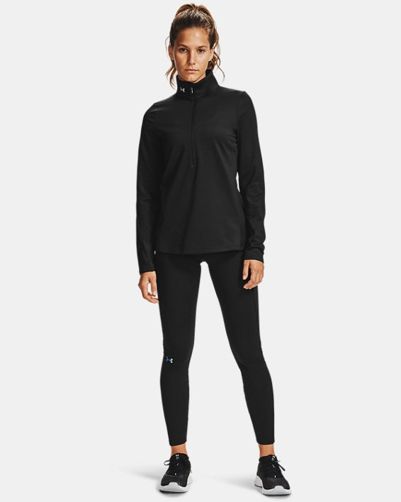 Women's ColdGear® Authentic ½ Zip, Black, pdpMainDesktop image number 0