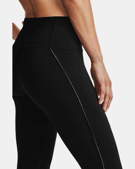 Women's UA RUSH™ Side Piping Crop, Black, pdpMainDesktop image number 3
