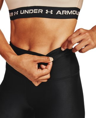 Under Armour Womens HeatGear Wordmark 7//8 Leggings