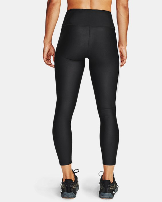 Women's HeatGear® Armour Wordmark 7/8 Leggings, Black, pdpMainDesktop image number 2