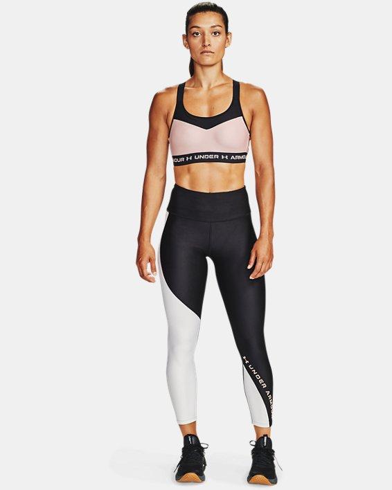 Women's HeatGear® Armour Wordmark 7/8 Leggings, Black, pdpMainDesktop image number 0