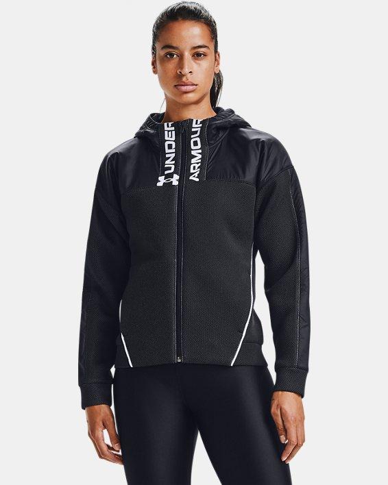 Women's UA /MOVE Full Zip Hoodie, Black, pdpMainDesktop image number 0