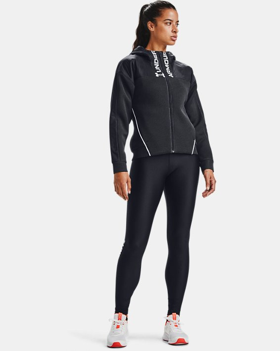 Women's UA /MOVE Full Zip Hoodie, Black, pdpMainDesktop image number 1