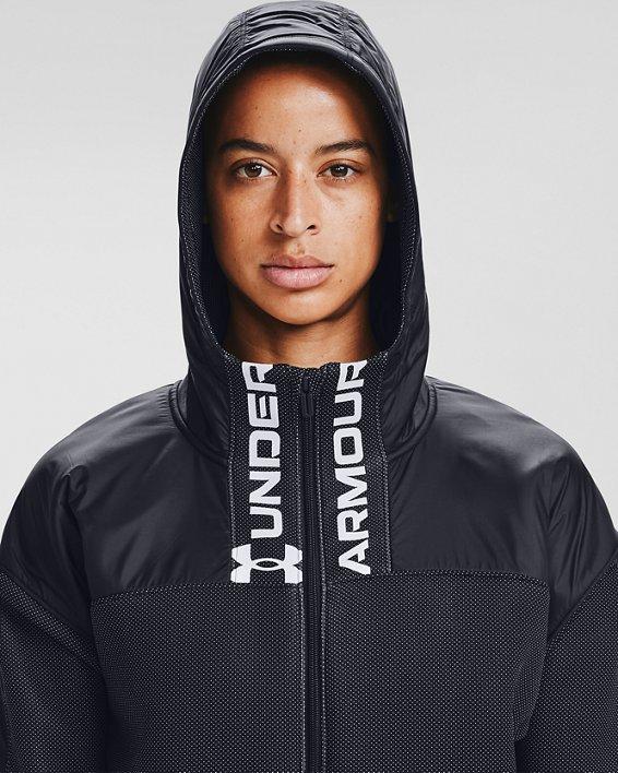 Women's UA /MOVE Full Zip Hoodie, Black, pdpMainDesktop image number 5