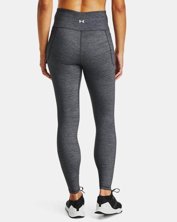 Leggings UA Meridian Heather Full-Length para mujer, Black, pdpMainDesktop image number 2