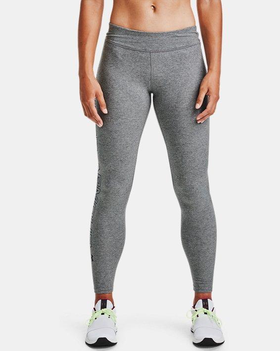 Women's UA Favorite Wordmark Leggings, Gray, pdpMainDesktop image number 1