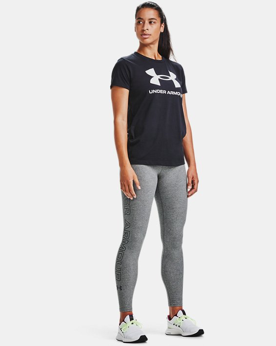 Women's UA Favorite Wordmark Leggings, Gray, pdpMainDesktop image number 3