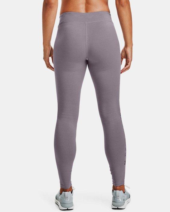 Women's UA Favorite Wordmark Leggings, Purple, pdpMainDesktop image number 3