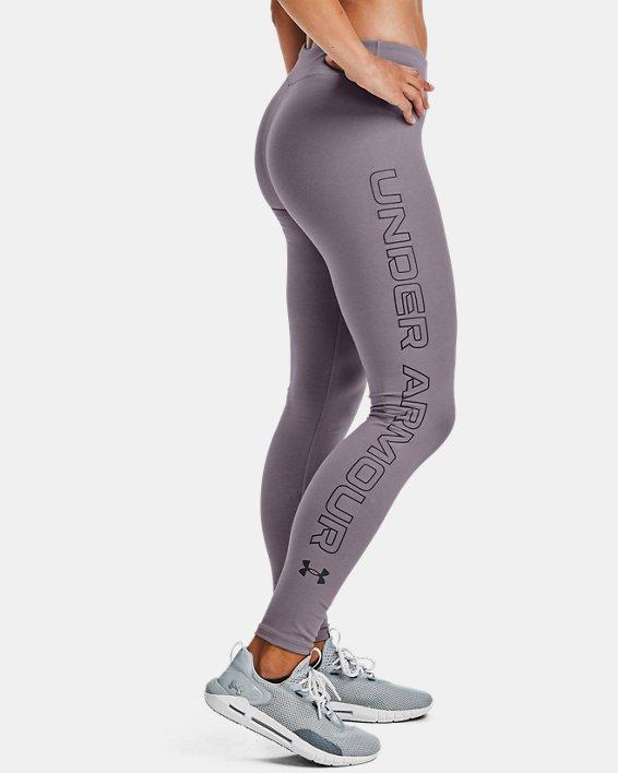 Women's UA Favorite Wordmark Leggings, Purple, pdpMainDesktop image number 0