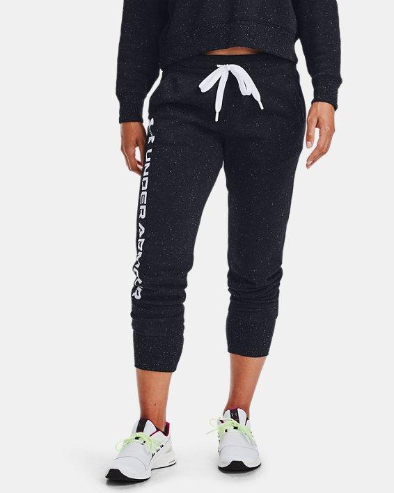 Pantalon de jogging UA Rival Fleece Shine pour femme, Black, pdpMainDesktop image number 1