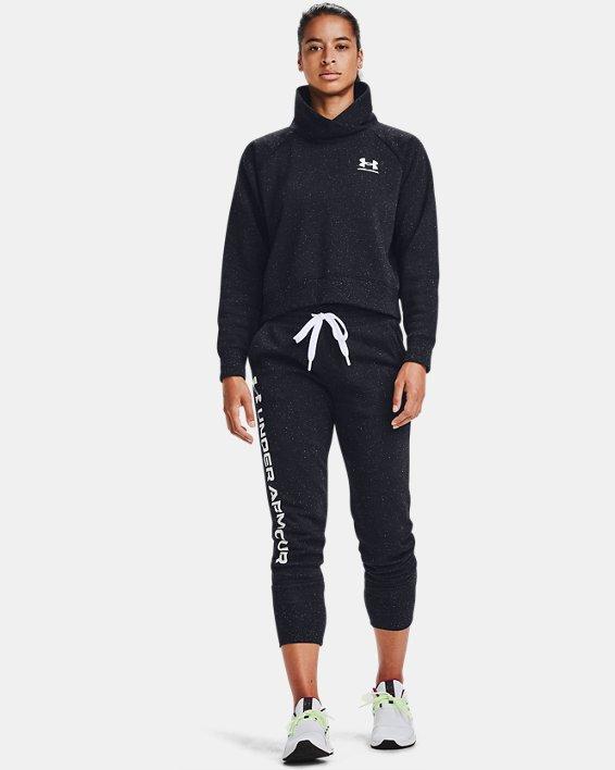 Pantalon de jogging UA Rival Fleece Shine pour femme, Black, pdpMainDesktop image number 0