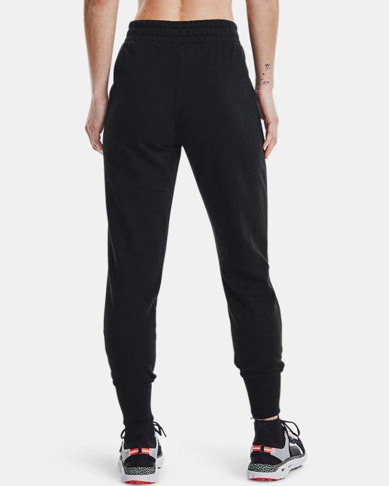 Women's UA Rival Fleece Joggers, Black, pdpMainDesktop image number 2