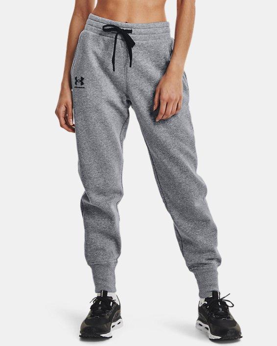 Pantalon de jogging UA Rival Fleece pour femme, Gray, pdpMainDesktop image number 1