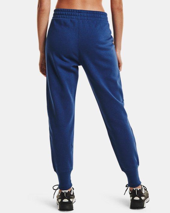 Women's UA Rival Fleece Joggers, Blue, pdpMainDesktop image number 2