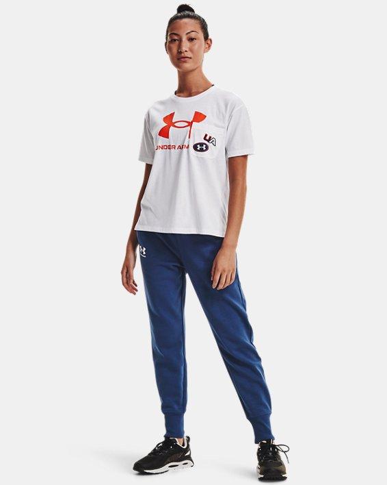 Women's UA Rival Fleece Joggers, Blue, pdpMainDesktop image number 0