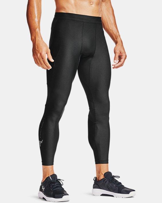 Men's Project Rock HeatGear® Leggings, Black, pdpMainDesktop image number 0