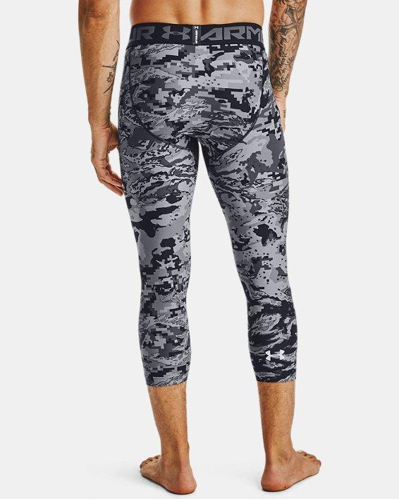 Men's HeatGear® Printed ¾ Leggings, Black, pdpMainDesktop image number 2
