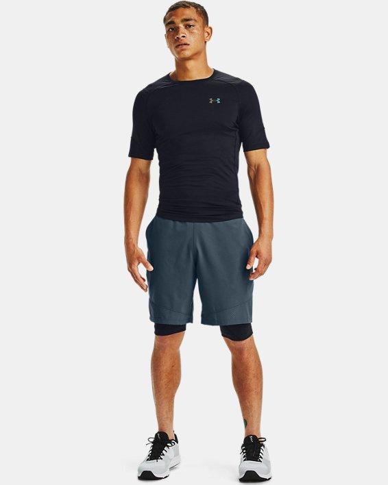 Men's UA RUSH™ HeatGear® 2.0 Compression Short Sleeve, Black, pdpMainDesktop image number 1