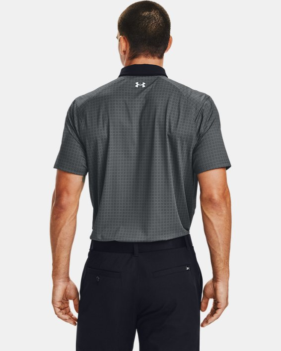 Men's UA Iso-Chill Grid Polo, Gray, pdpMainDesktop image number 2