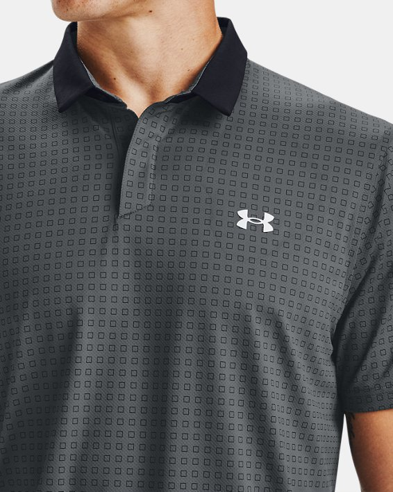 Men's UA Iso-Chill Grid Polo, Gray, pdpMainDesktop image number 5
