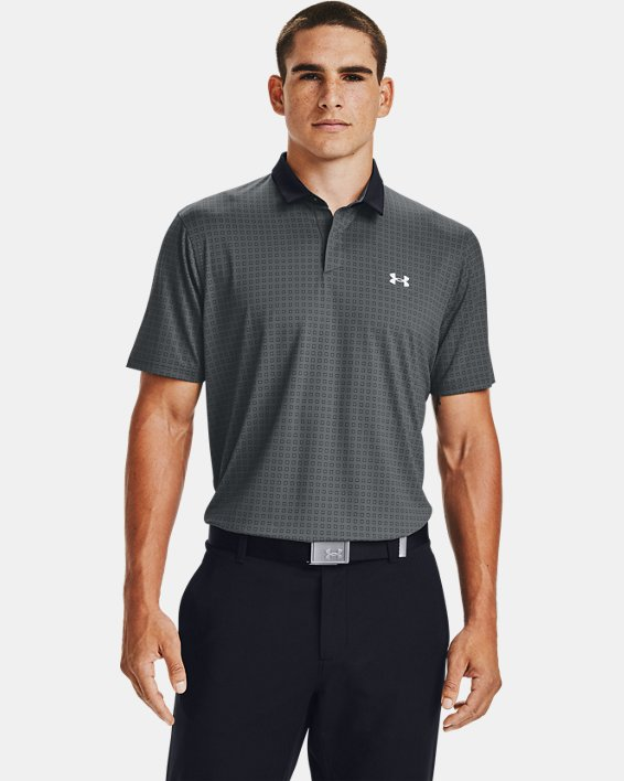 Men's UA Iso-Chill Grid Polo, Gray, pdpMainDesktop image number 0