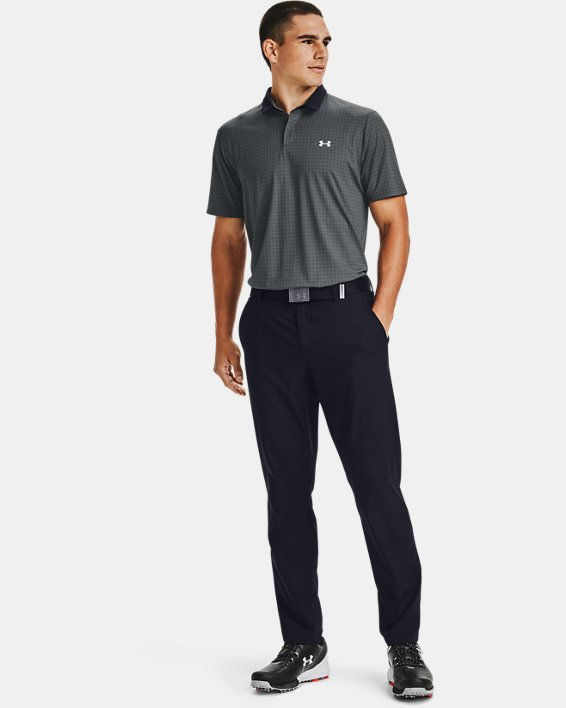 Men's UA Iso-Chill Grid Polo, Gray, pdpMainDesktop image number 1