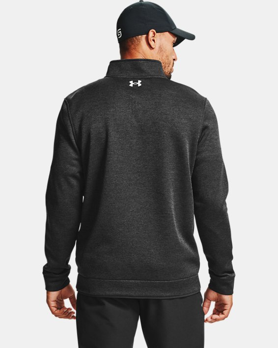 Men's UA Storm SweaterFleece ¼ Zip Layer, Black, pdpMainDesktop image number 1