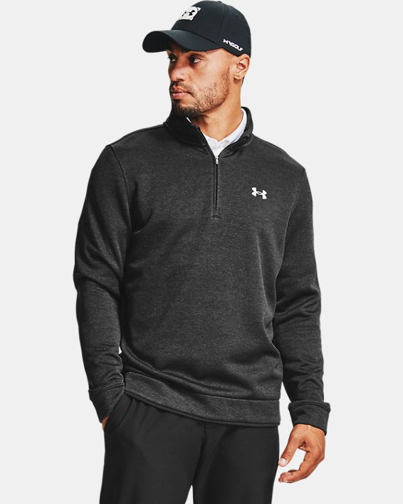 Men's UA Storm SweaterFleece ¼ Zip Layer, Black, pdpMainDesktop image number 0