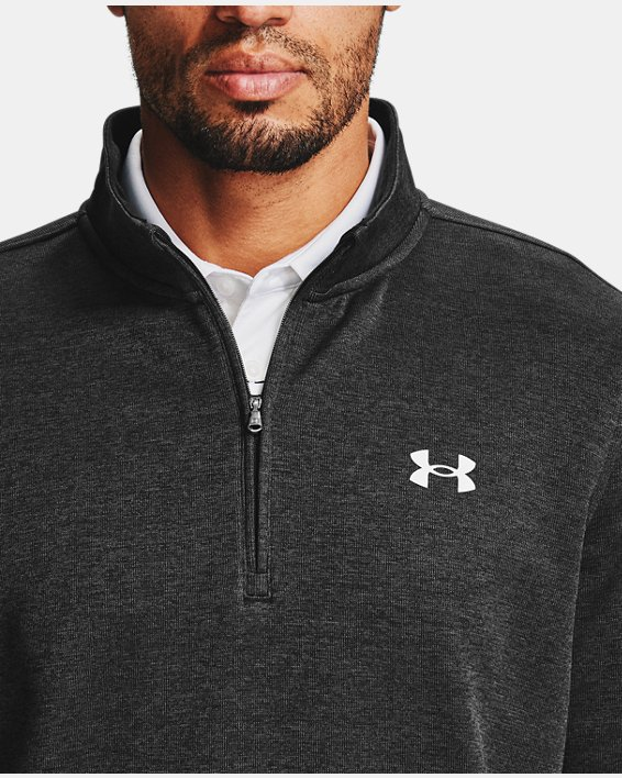 Men's UA Storm SweaterFleece ¼ Zip Layer, Black, pdpMainDesktop image number 4