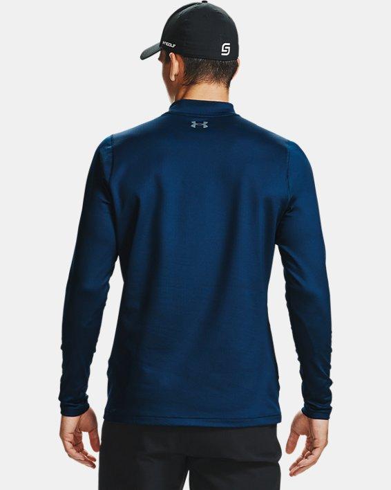 Men's ColdGear® Infrared Long Sleeve Golf Mock, Navy, pdpMainDesktop image number 2