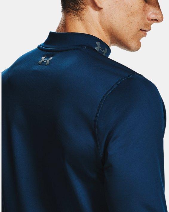 Men's ColdGear® Infrared Long Sleeve Golf Mock, Navy, pdpMainDesktop image number 5