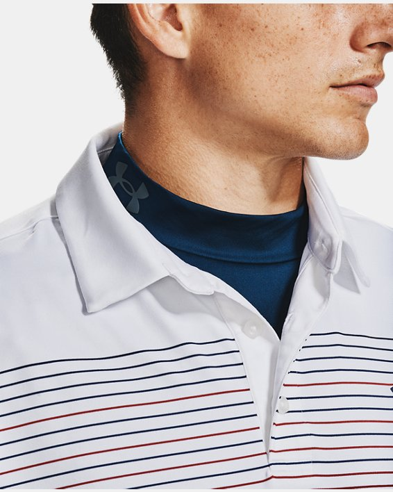 Men's ColdGear® Infrared Long Sleeve Golf Mock, Navy, pdpMainDesktop image number 6