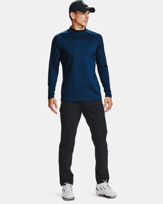 Men's ColdGear® Infrared Long Sleeve Golf Mock, Navy, pdpMainDesktop image number 0