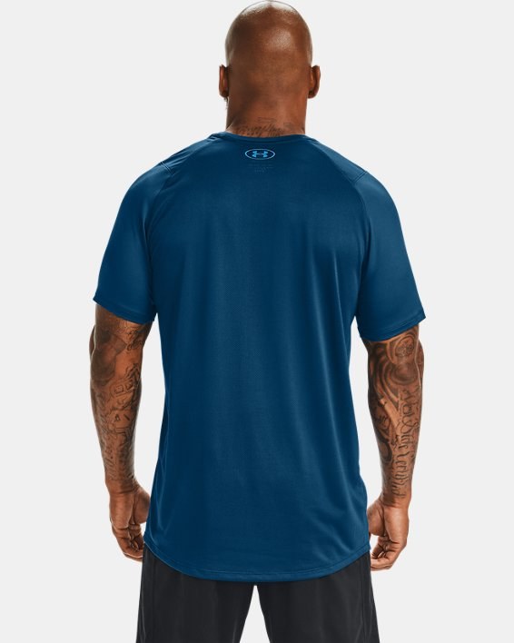 Men's UA MK-1 Graphic Short Sleeve, Blue, pdpMainDesktop image number 2